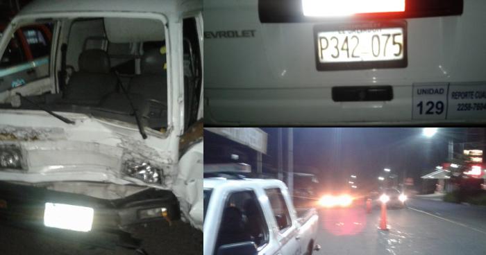 Detienen a conductor con 391 grados de alcohol tras causar triple accidente en la carretera hacia Panchimalco