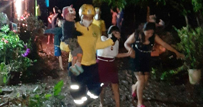 12 familias evacuadas por afectaciones tras lluvia de anoche en Tepecoyo, La Libertad