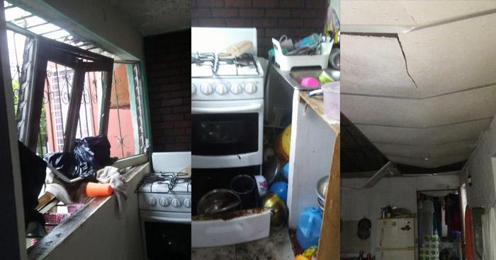 Explosión por fuga de gas en vivienda de colonia Escorial de Mejicanos