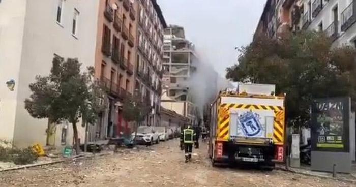 Dos fallecidos y varios heridos tras explosión en Madrid, España