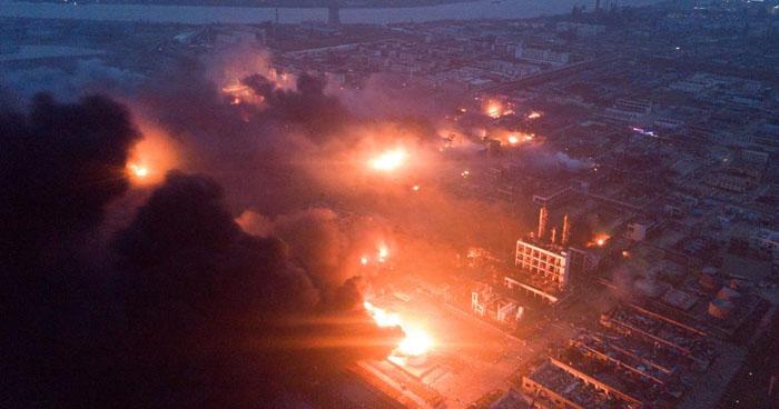 Explosión de planta química en China dejó más de 40 muertos y decenas de heridos
