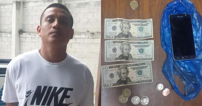 Palabrero de pandilla capturado por extorsionar a comerciante