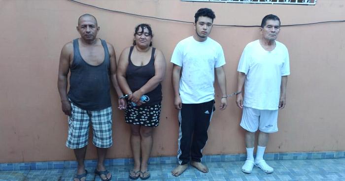 Capturan a 4 pandilleros acusados de diferentes delitos en Cuscatlán