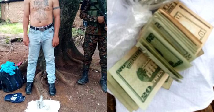Capturan a pandillero y le incautan más de $4.000 en efectivo