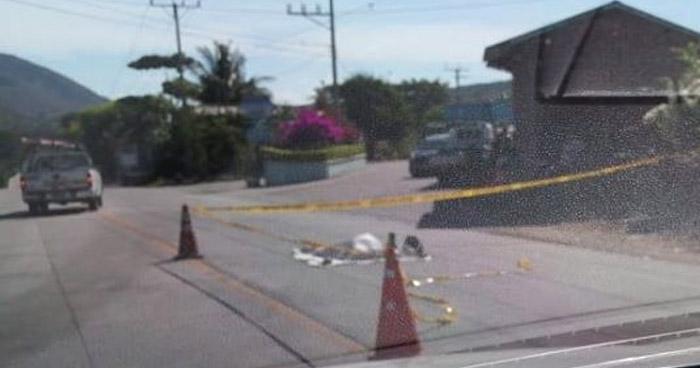 Hombre muere al ser atropellado en carretera a Santa Ana