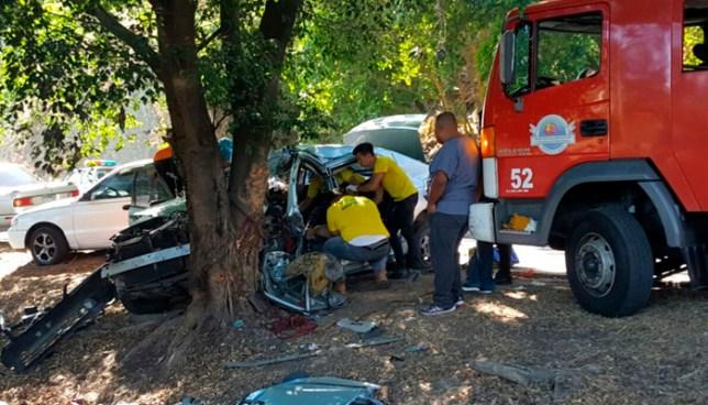 Dos fallecidos tras accidente de transito en km 25 de la carretera panamericana