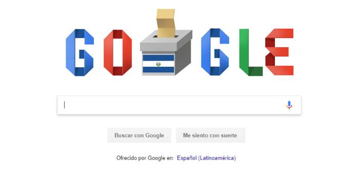 Google dedicada doodle a las elecciones presidenciales de este día