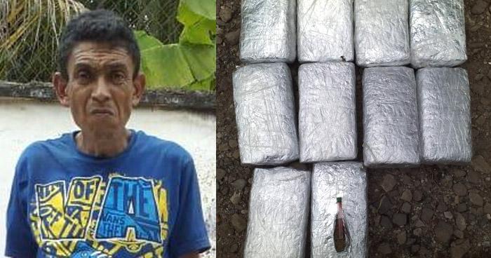 Guatemalteco capturado cuando transportaba 10 paquetes de droga