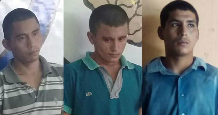 Capturan a un homicida y a dos distribuidores de droga en Morazán