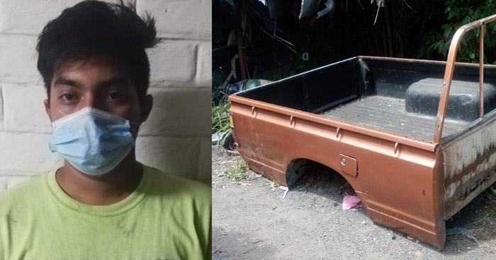 Capturado por robo de piezas de vehículos en San Marcos