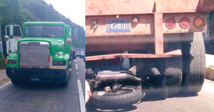 Identifican a motociclista fallecido en Autopista a Comalapa, era Agente Policial de los Jaguares UTEP