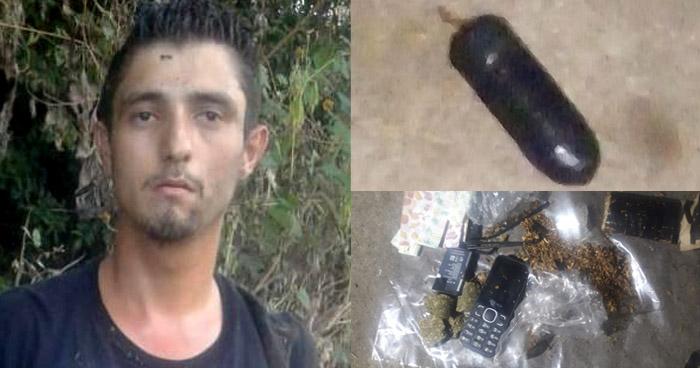 Intentó ingresar con paquete con droga, un celular y baterías a una bartolina policial