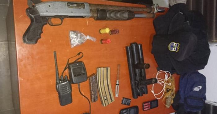 Interceptan a pandilleros cuando transportaban armas y munición en Panchimalco