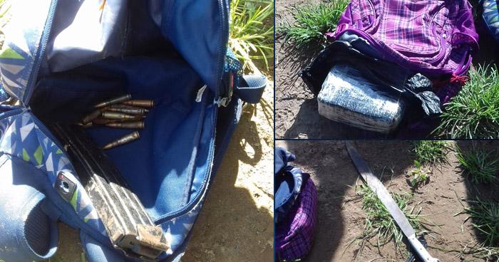 Delincuentes abandonan droga y munición al huir hacia Guatemala por la frontera Las Chinamas