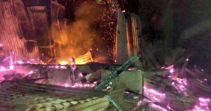 Anciano muere en el incendio de su vivienda ubicada en carretera al Boquerón