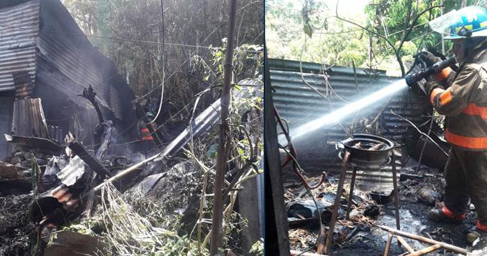 Dos personas quemadas y una vivienda destruida tras incendio en Ciudad Delgado