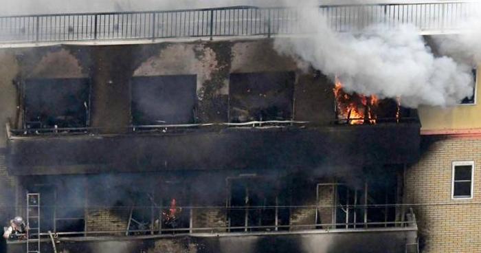 Muere 33 personas en incendio provocado en estudio de animación de Japón