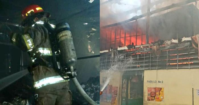 Once puestos afectados tras incendio en Megaplaza, Sonsonate