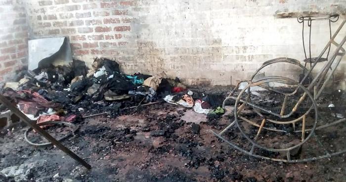 Dos habitaciones quemadas tras incendio en mesón de Quezaltepeque