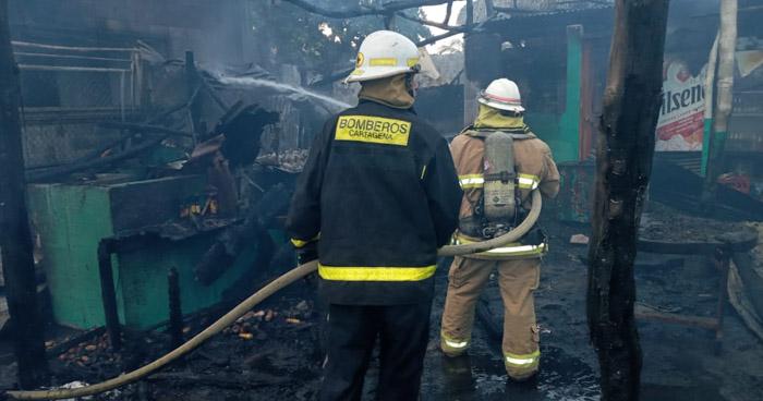 Incendio daña cuatro ranchos en playa Las Tunas, en Conchagua