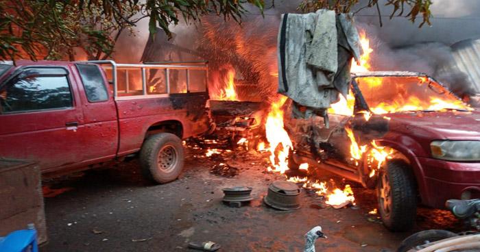 Un taller y dos viviendas afectadas por incendio en San Alejo, La Unión