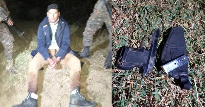 Capturan a salvadoreño ebrio y armado que intentaba ingresar ilegalmente al país