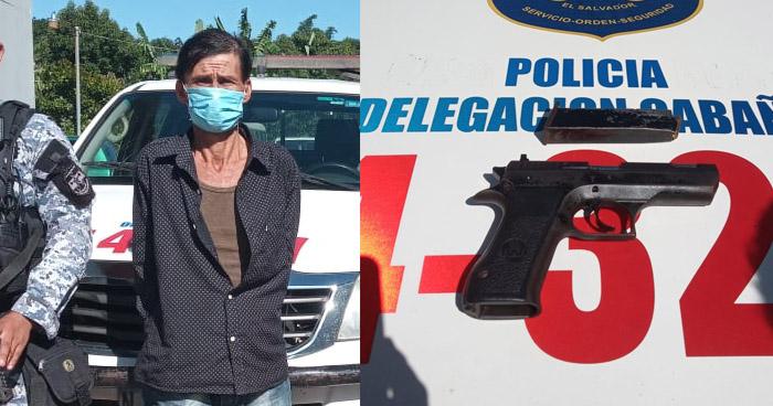 Capturado tras disparar contra otro hombre en Ilobasco