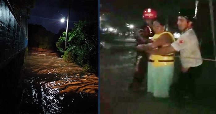Evacuan a familias residentes en zonas de riesgo por lluvias