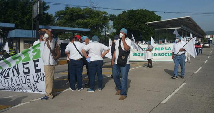 Sindicalistas marchan para exigir Régimen de Excepción y cuarentena