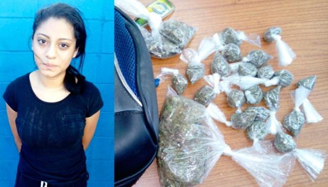Joven es capturada mientras vendía droga en San Salvador