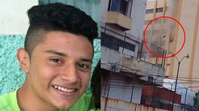 Muere joven que cayó de una de las torres del Ministerio de Hacienda durante incendio
