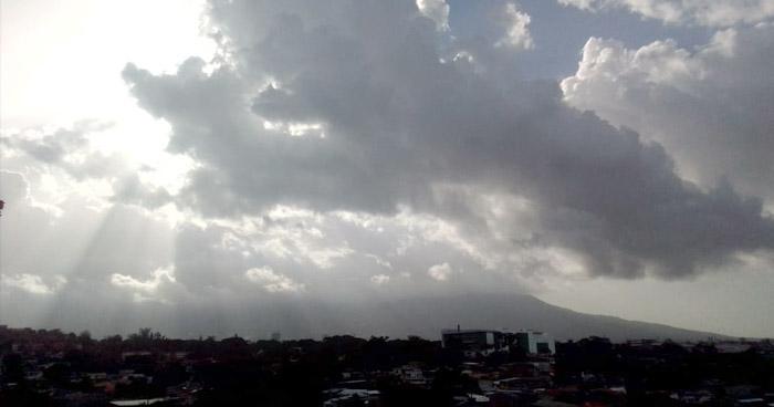 Probabilidad de lluvias para finales de la tarde con énfasis en la zona norte del país