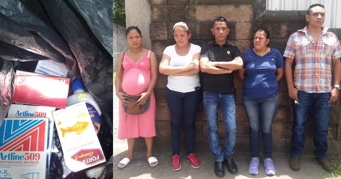 Cinco personas, entre ellas una embarazada, capturados tras robar un farmacia en La Unión