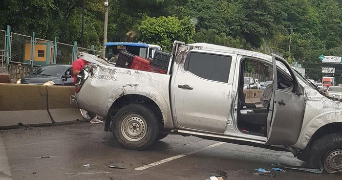 Un lesionado tras fuerte choque en carretera Los Chorros