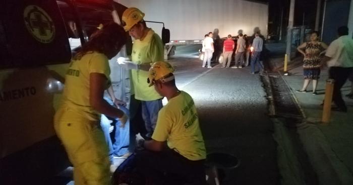 Lesionado tras chocar con remolque sobre carretera Panamericana en San Martin