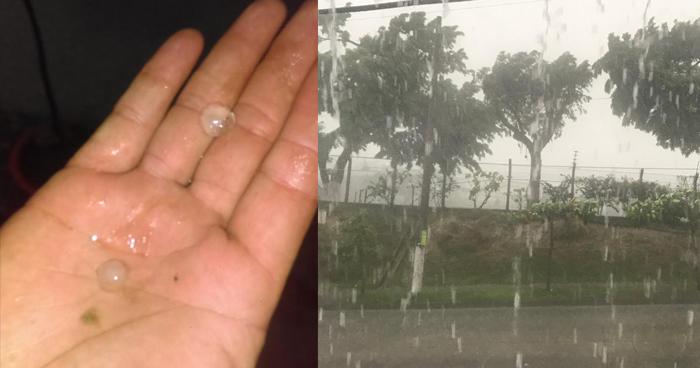 Lluvia con caída de granizo este miércoles sobre varios puntos del país