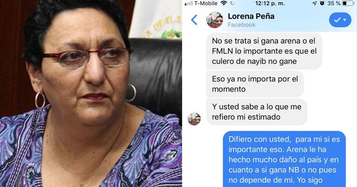 Lorena Peña confirma alianza con ARENA para evitar que Nayib Bukele gane la presidencia
