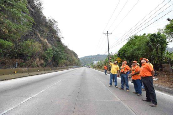 Obras en la Autopista Los Chorros continuaran por 5 meses más