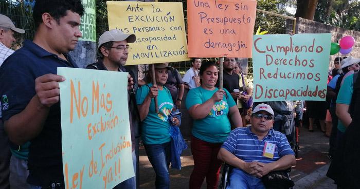 Organizaciones de personas con discapacidad marcharán hacia Asamblea Legislativa