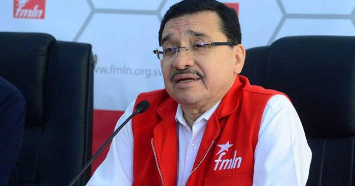 """Medardo González: """"Estoy seguro que el FMLN seguirá en la Presidencia en el 2019"""""""