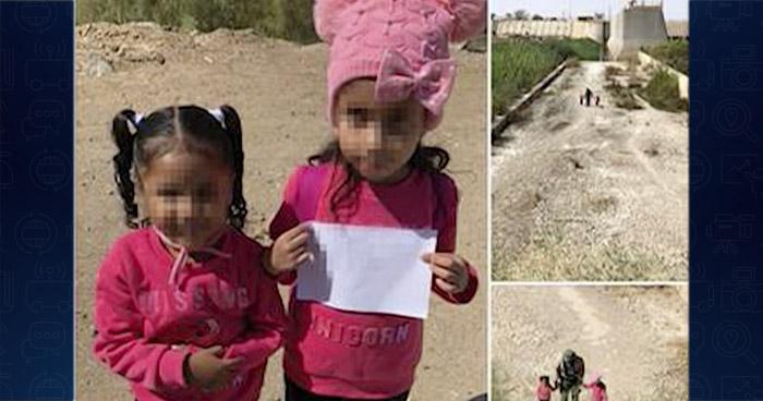 Agentes fronterizos de EE.UU. hallan a dos niñas solas merodeando en la frontera con México