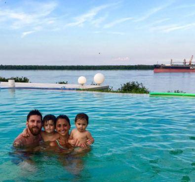 Lionel Messi esta de vacación junto con su familia