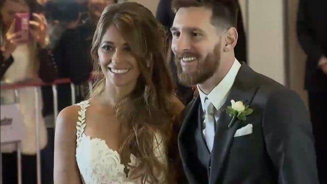 ¡Leo Messi y Antonella Roccuzzo ya son esposos!