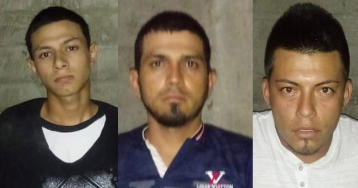 Arrestan a tres delincuentes que operaban en Metapán