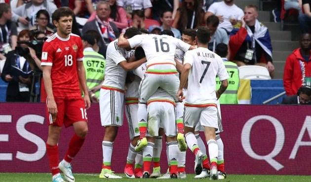 México gana y elimina a Rusia de su Copa Confederaciones