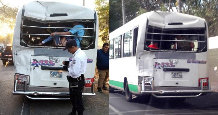 Sacan de circulación a microbús que no cumplía con las medidas de seguridad necesarias