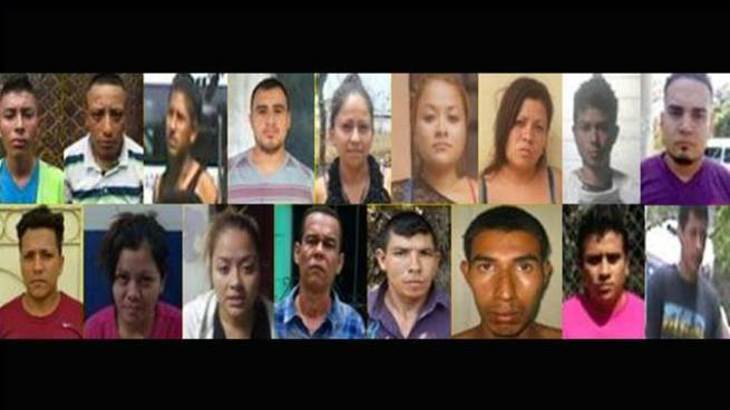 Capturan a 18 miembros de estructuras criminales que operan en 4 departamentos del país