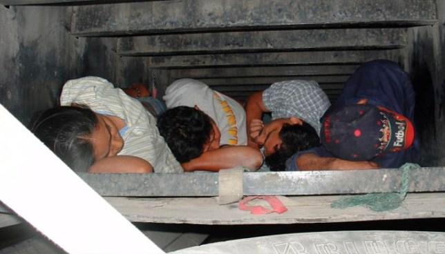 Rescatan a 300 migrantes, entre ellos 19 salvadoreños, en precarias condiciones en camiones en México