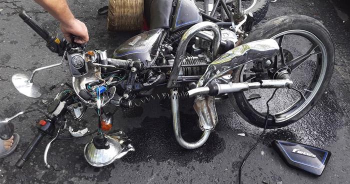 Motociclista muere al accidentarse sobre la carretera de Sonsonate