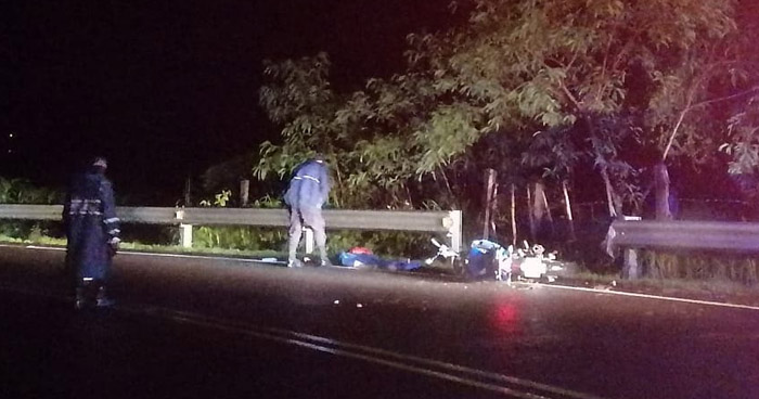 Motociclista ebrio murió anoche tras accidentarse en carretera Longitudinal del Norte